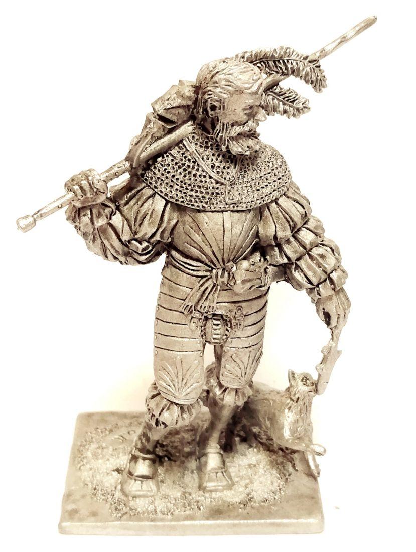 Фигурка Ландскнехт с кошкой 16в. олово