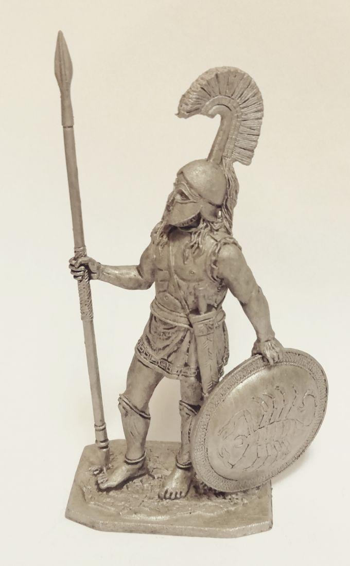 Фигурка Спартанский гоплит 480 г. до н.э.. олово