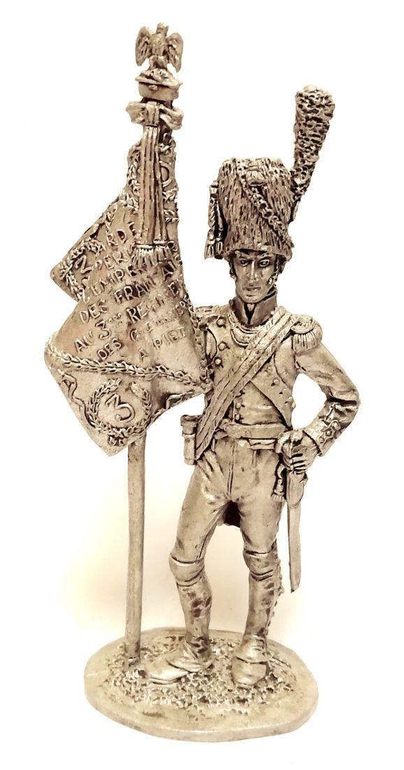 Фигурка Орлоносец 3 полка пеших гренадер. Франция 1812 г. олово