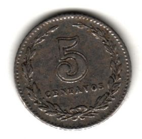 Аргентина 5 сентаво 1908
