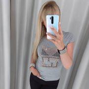 Серая хлопковая футболка Fendi