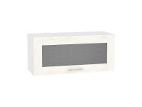 Шкаф верхний Лофт ВГ810 со стеклом (nordic oak)