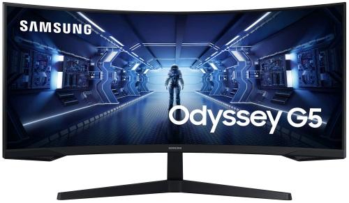 """Монитор Samsung Odyssey G5 C34G55TWWI 34"""", черный"""