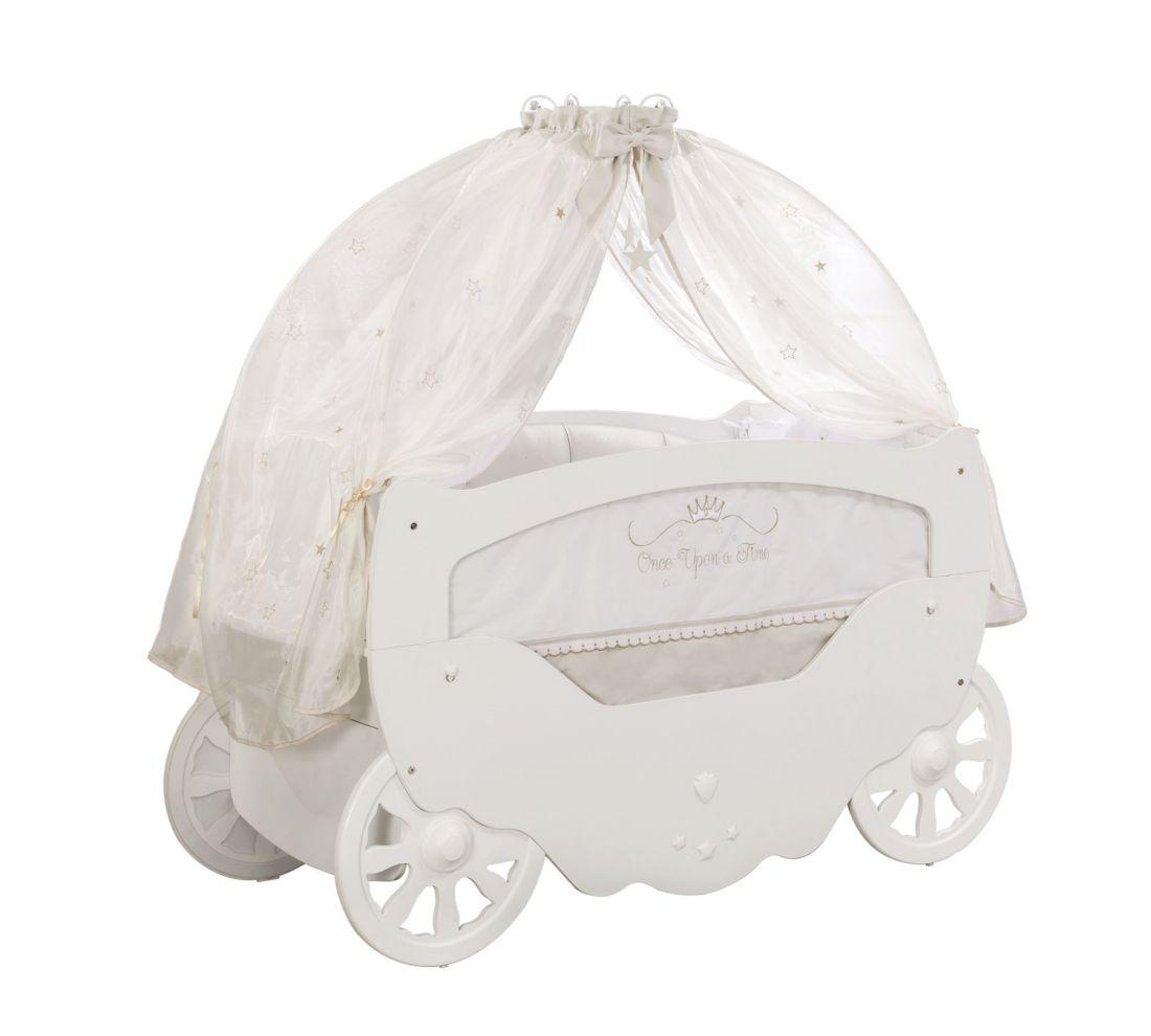 Кроватка Fairy (карета), сп. м. 70х130, балдахин, белье в кроватку