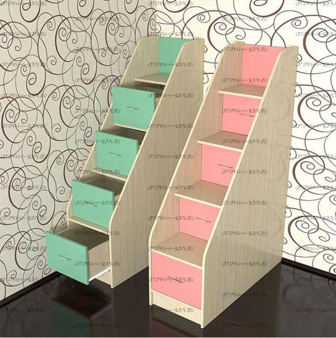 Лестница-комод для двухъярусных кроватей (40х101х151)