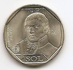 Иполито Унануэ 200 лет Независимости 1 новый соль Перу 2020