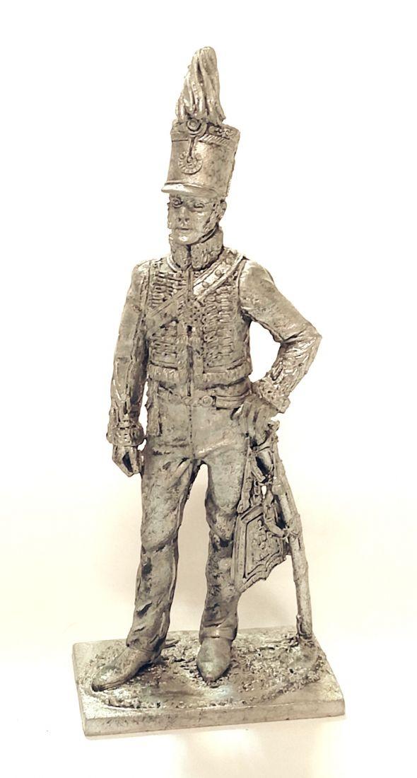 Фигурка Офицер конных егерей Италия 1814 г олово