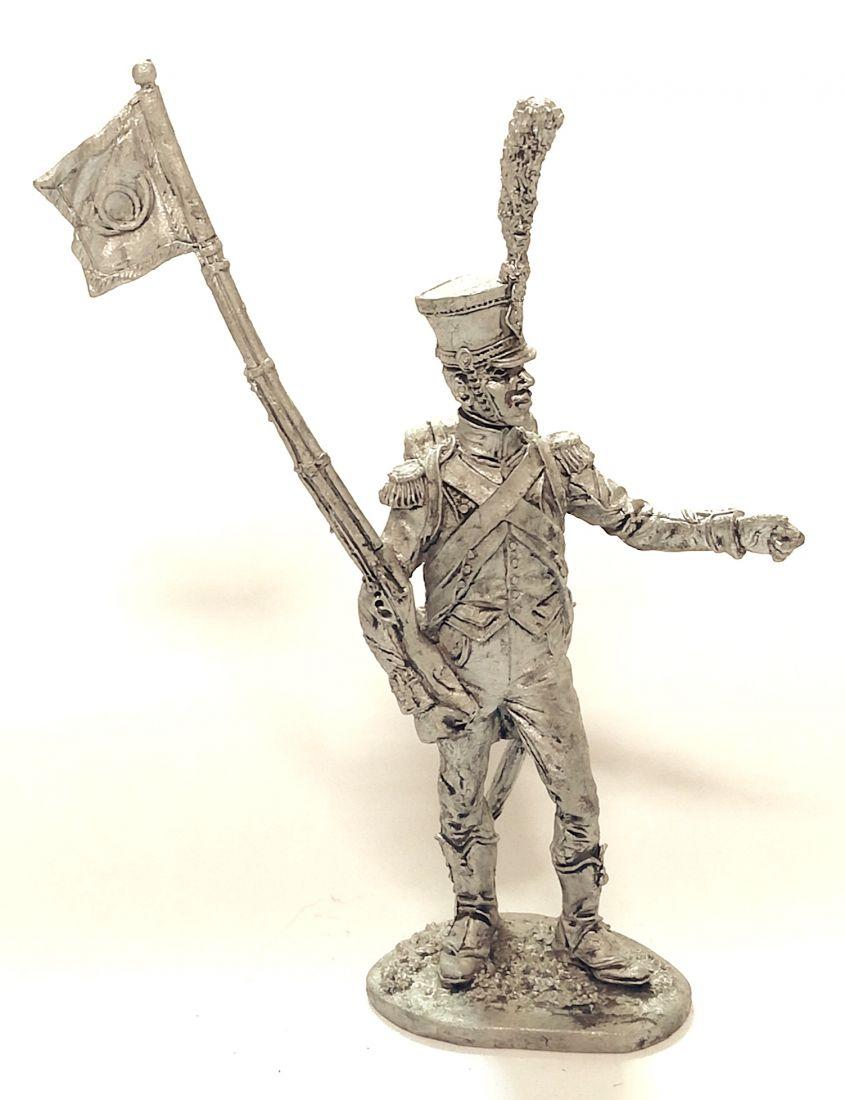 Фигурка Сержант легкой пехоты с фаньоном Франция олово