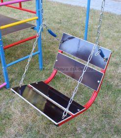 Качели №2 со спинкой на цепях с подшипниками детские