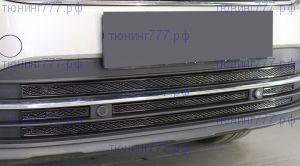 Решётки-сетки в бампер, Premium, черный цвет