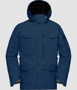 NORRÖNA RØLDAL GORE-TEX JACKET (M) INDIGO NIGHT BLUE