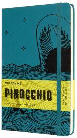 Книжка зап.Moleskine Large PINOCCHIO The Dogfish линейка темно-зеленый/черный LEPIQP060B