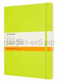 Книжка зап.Moleskine XLarge Soft Classik линейка лайм QP621C2