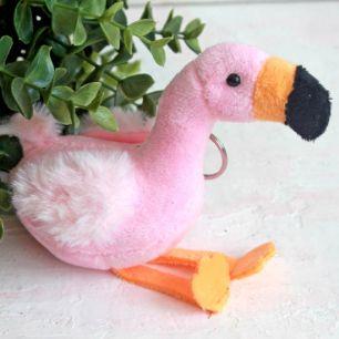 Игрушка для куклы, розовый фламинго 11 см