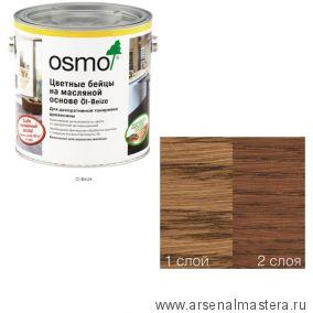 Цветные бейцы на масляной основе для тонирования деревянных поверхностей Osmo Ol-Beize 3543 Коньяк 2,5 л