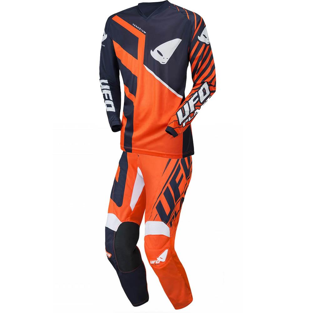 UFO Vanadium Blue/Neon Orange джерси и штаны для мотокросса, оранжево-синие