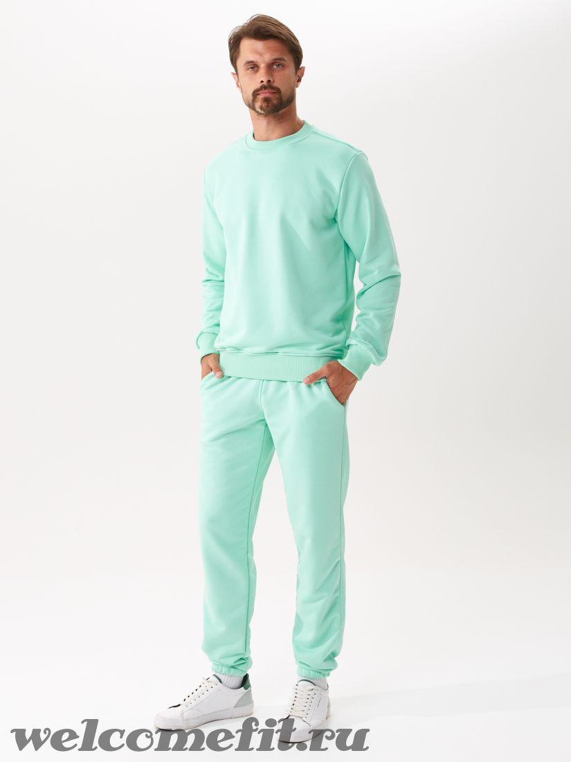 Костюм свитшот и брюки мужской - мята