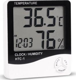 Термометр-часы, гигрометр, цифровой