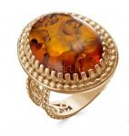 Перстень с искусственным янтарем (арт. 788111)