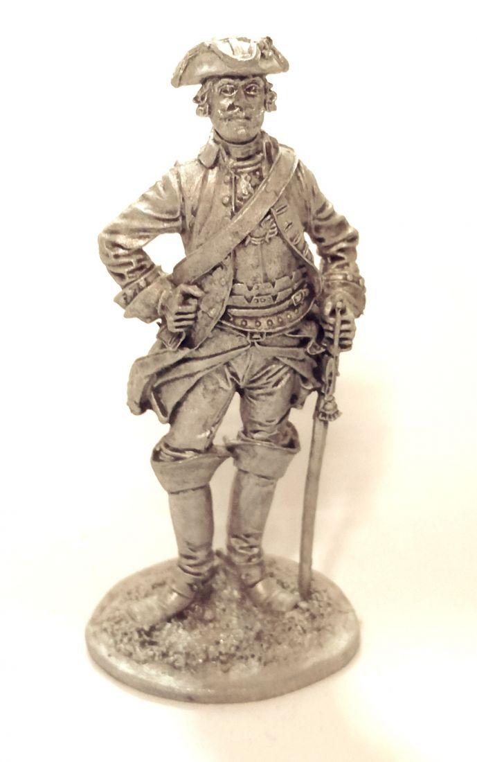 Фигурка Рядовой кирасирского полка. Россия, 1732-42 гг. олово