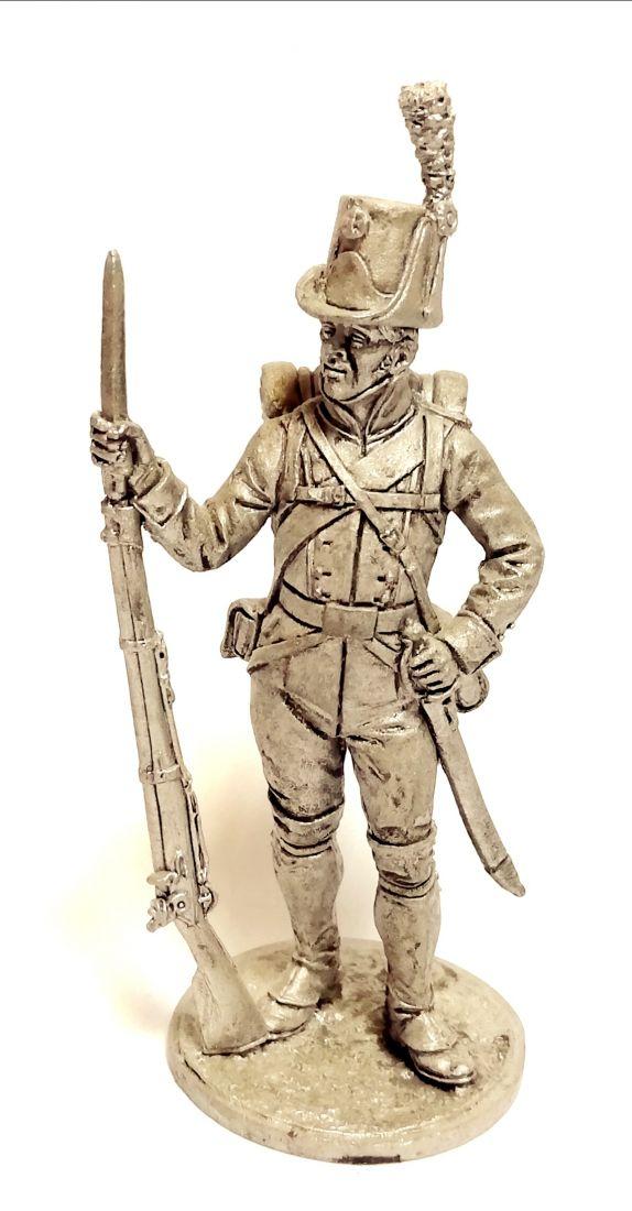 Фигурка Рядовой пехотного полка Адлеркройца. Швеция, 1809 г. олово