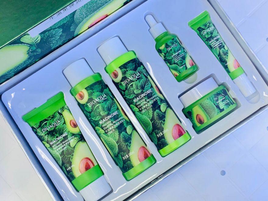 Набор антивозрастной косметики BIOAQUA Niacinamide Avocado Extract Elasticity Hydration Skin Care Set 6в1 (14899)