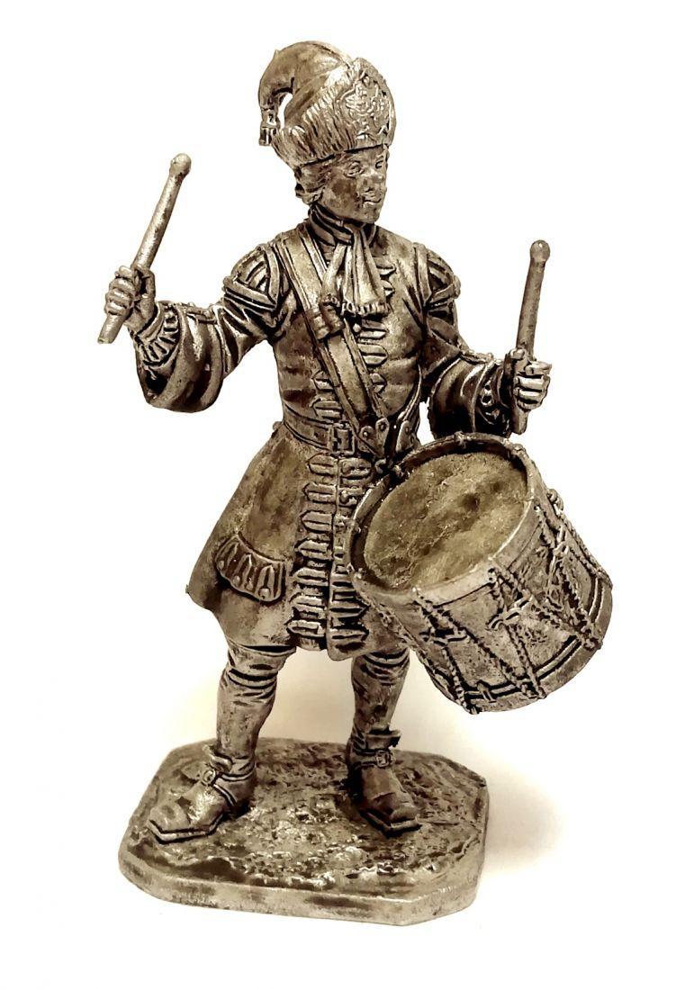 Фигурка Гренадерский барабанщик лейб-гвардии Преображенского полка, 1708-12 гг. Россия олово