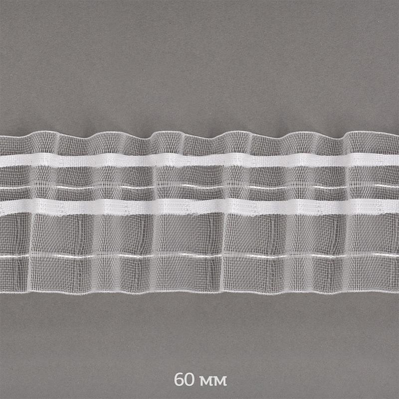 фото Лента шторная TBY 60 мм сборка универсальная  цвет прозрачный TBY606-0