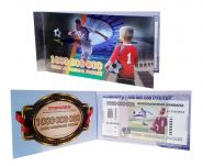 1 миллиард рублей - коллекционная банкнота - в буклете. Серия АА