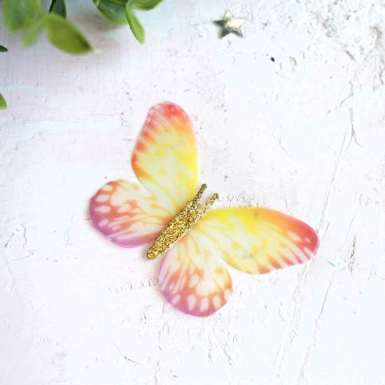 Аксессуар для кукол - бабочка желтая, 6 см.