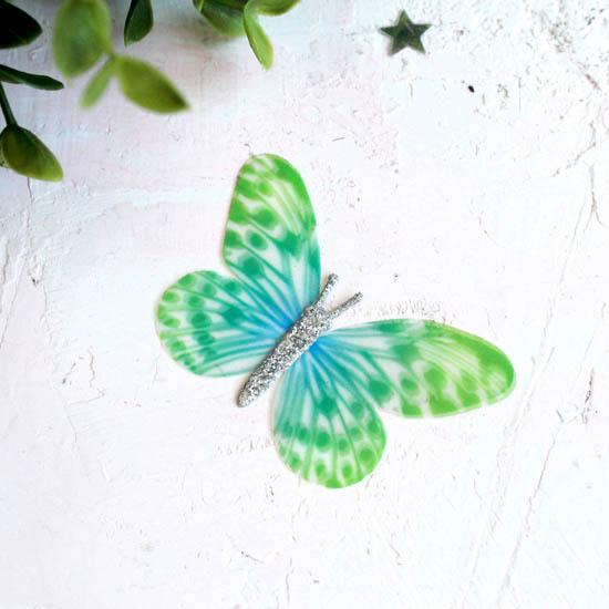 Аксессуар для кукол - бабочка зеленая, 6 см.