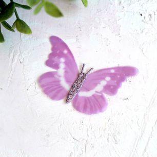 Аксессуар для кукол - бабочка лиловая, 6 см.