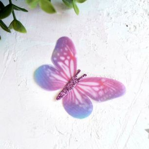 Аксессуар для кукол - бабочка фиолетовая, 6 см.