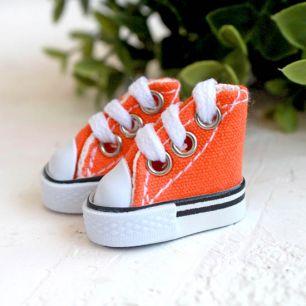 Обувь для кукол - кеды 3,5 см - оранжевые