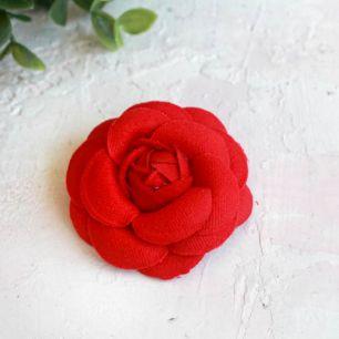 Тканевая роза 5 см. - красная