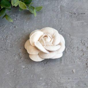 Тканевая роза 5 см. - молочная