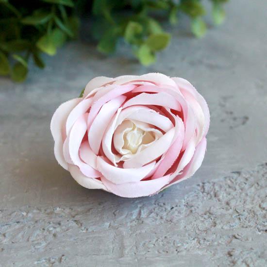 Бутон розы 4,5 см. - тканевый нежно-розовый
