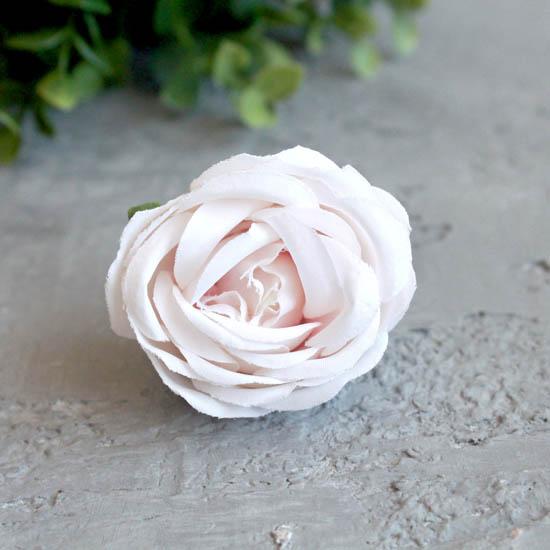 Бутон розы 4,5 см. - тканевый молочный