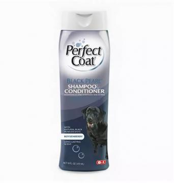 Шампунь+кондиционер 8in1 д/темно-шерстных собак оттеночный Black Pearl Shampoo&Conditioner 473мл