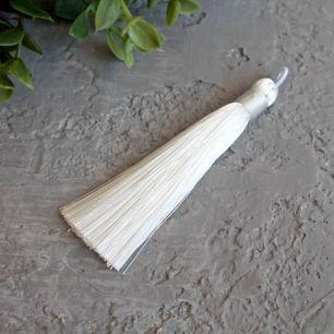 Кисточка декоративная, белая 8 см.