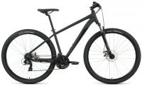 """Велосипед Forward APACHE 29 2.2 S disc 2021 рост 17"""" Чёрный матовый/чёрный (RBKW1M39GS03)"""