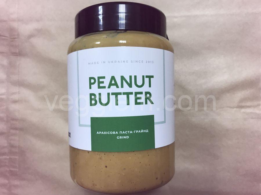 Натуральная арахисовая паста грайнд, ORTYM, 400 грамм, пластик