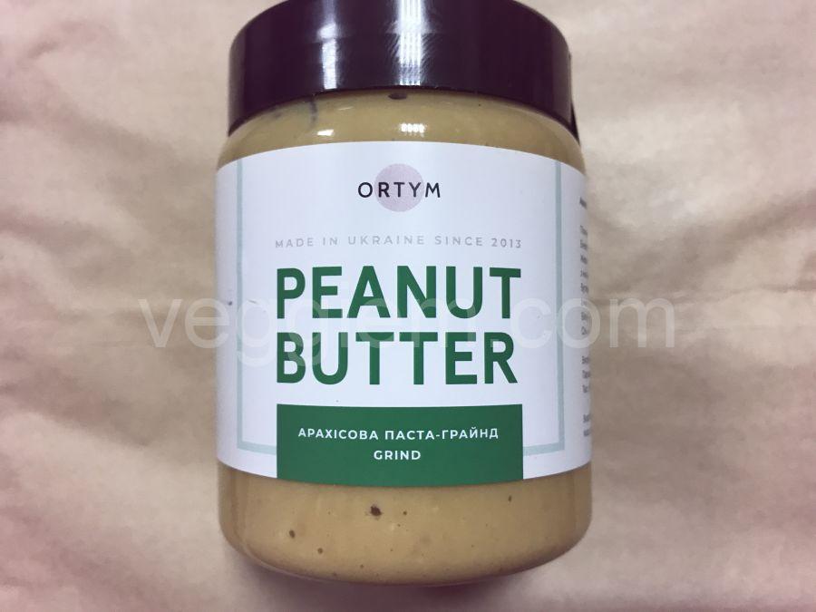 Натуральная арахисовая паста грайнд, ORTYM, 250 грамм, пластик
