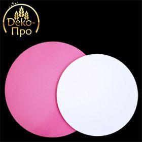 Подложка розовая/белая d-28см 3мм