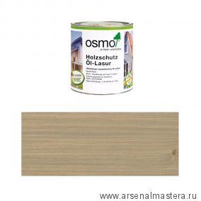 Защитное масло - лазурь для древесины для наружных работ OSMO Holzschutz Ol-Lasur 903 Серый базальт 0,75 л