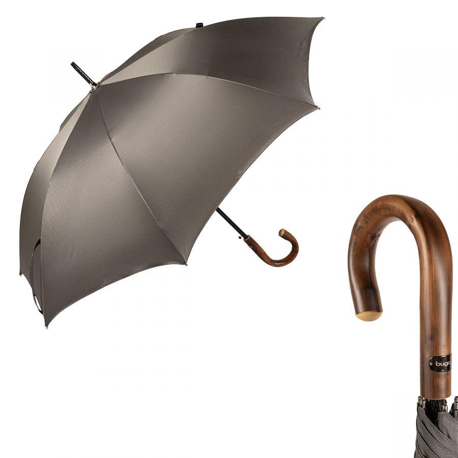 Зонт-трость Bugatti 218354-LA Oxford Gray Legno