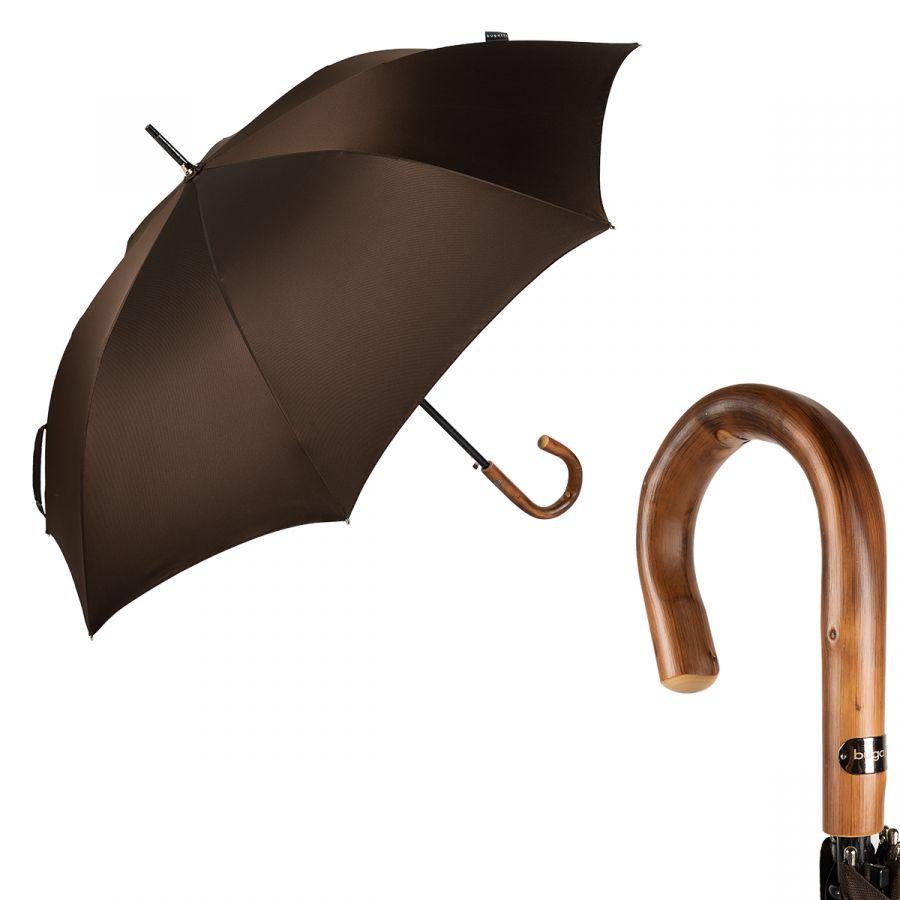 Зонт-трость Bugatti 218355-LA Oxford Brown Legno