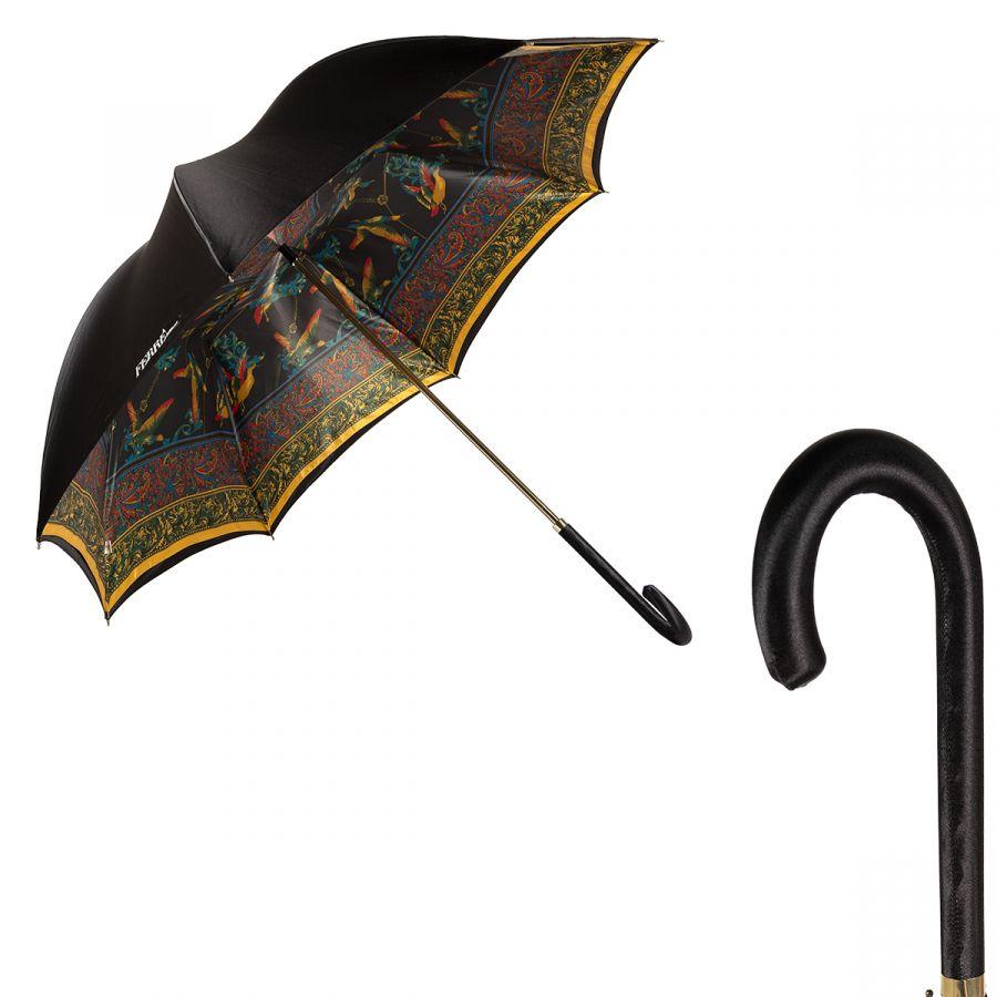 Зонт-трость Ferre 1655-LM Birds Black Atlas