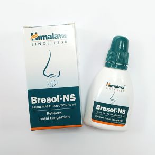 Бресол капли-спрей для носа | Bresol-NS Saline Nasal Solution | 10 мл | Himalaya