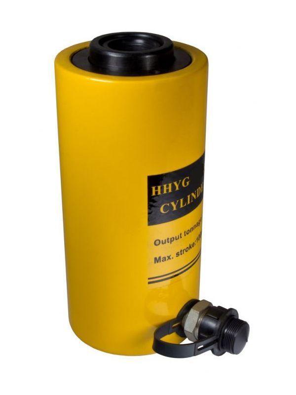 Домкрат гидравлический TOR ДП100П75 (HHYG-10075K),  100 т с полым штоком